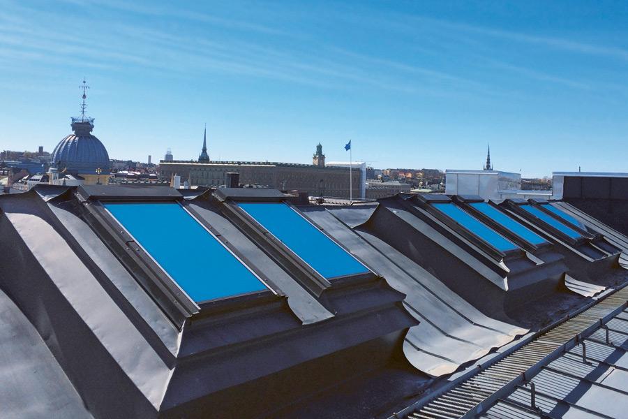 solfilm takfönster stockholm